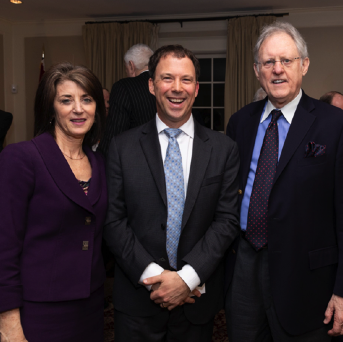 The State Dept.'s Dr. Denise Natali, Andrew Marble, and CMSCO Inc. president Mr. Michael Simpson.