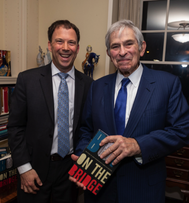 Andrew Marble with Dr. Paul Wolfowitz, former president the World Bank and close colleague of Shalikashvili.
