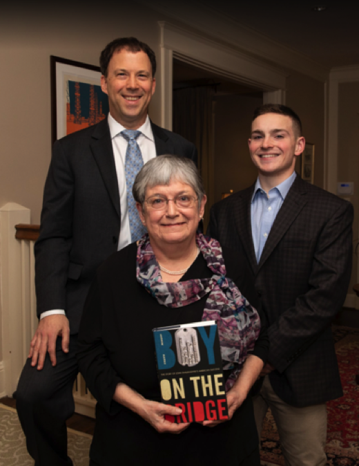 Author Andrew Marble with his mother, Ms. Sharyn Marble, and nephew Mr. Nicholas Lanciani.