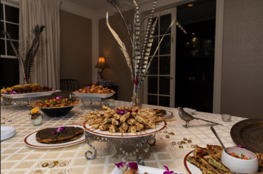 Ambassador Yasseen offered a feast as elegant as it was delicious.